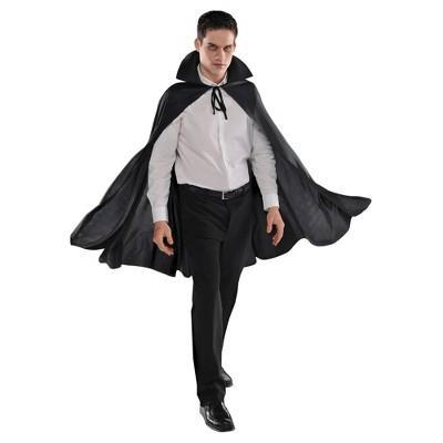 Adult Black Cape Halloween Costume Wearable Accessory