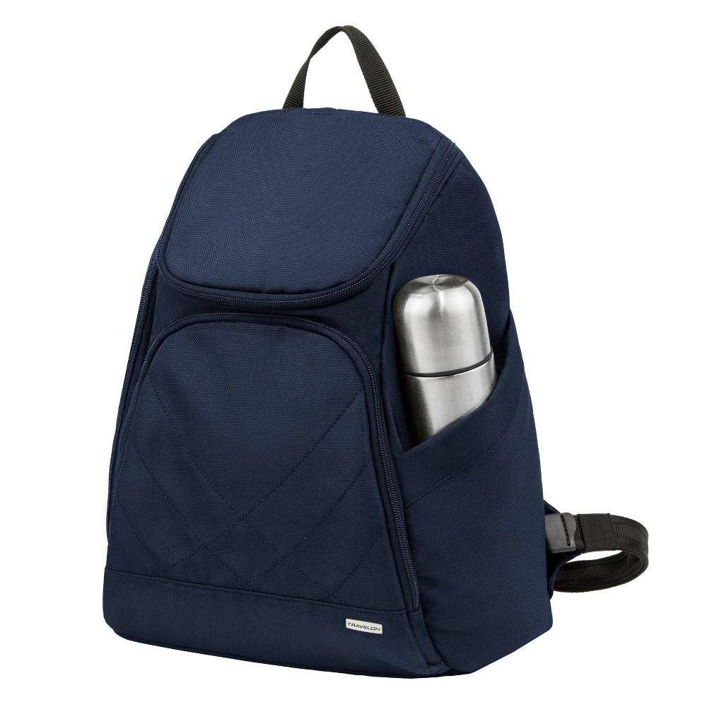 "Image of ""Travelon 16"""" Anti-Theft Classic Backpack - Midnight Blue, Black Blue"""