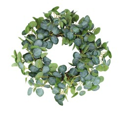Northlight Eucalyptus Leaves Artificial Botanical Wreath, Green 20-Inch