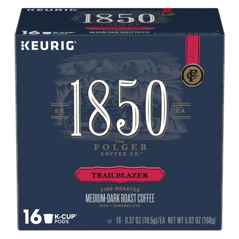 1850 Trailblazer Medium Dark Roast Coffee - Keurig K-Cups Pods - 16ct - image 1 of 3