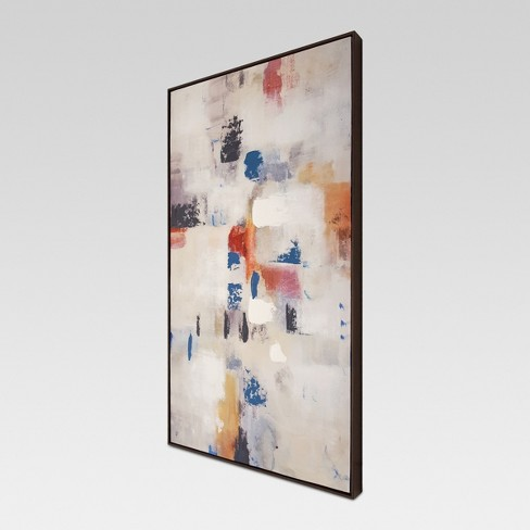 Abstract Framed Embellished Canvas 42\