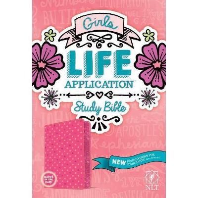Girls Life Application Study Bible NLT - (Leather Bound)