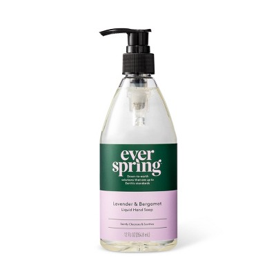 Lavender & Bergamot Liquid Hand Soap - 12 fl oz - Everspring™