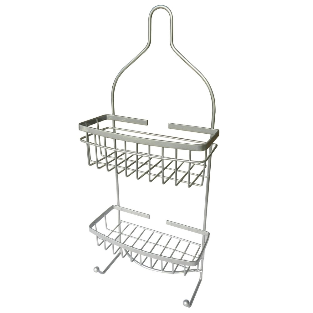 Image of 2 Level Hanging Shower Caddy Silver - Elegant Home Fashions