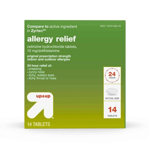 Cetirizine Hydrochloride Allergy Relief Tablets - Up&Up™ - image 1 of 4