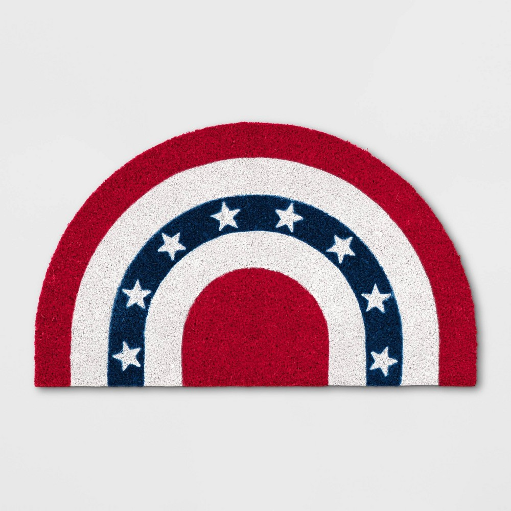 Americana Half Circle Flag Coir Doormat