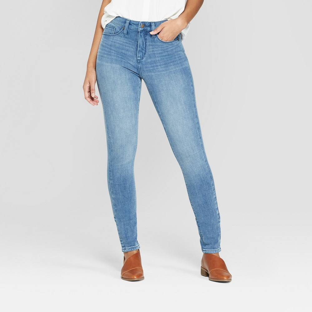 Women's High-Rise Bi-Stretch Skinny Jeans - Universal Thread Indigo Opaque 14, Blue