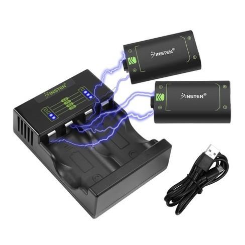 2x 40+ Hours Playtime 2500mAh Battery Pack For Xbox One/Xbox One S/One Elite Wireless Controller+1x Fast Charging Xbox One Battery Charger Station - image 1 of 4