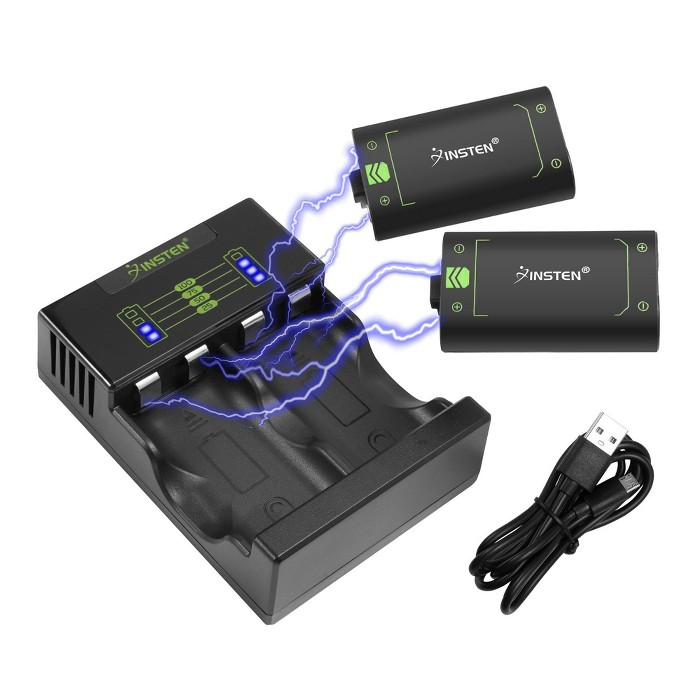 2x 40+ Hours Playtime 2500mAh Battery Pack For Xbox One/Xbox One S/One Elite Wireless Controller+1x Fast Charging Xbox One Battery Charger Station : Target