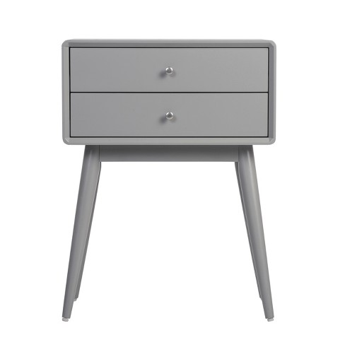 Rory Two Drawer Side Table Gray - Adore Decor - image 1 of 4