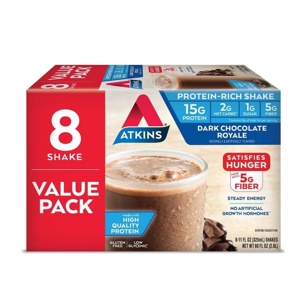 Atkins High Protein Shake Dark Chocolate Royale 8ct