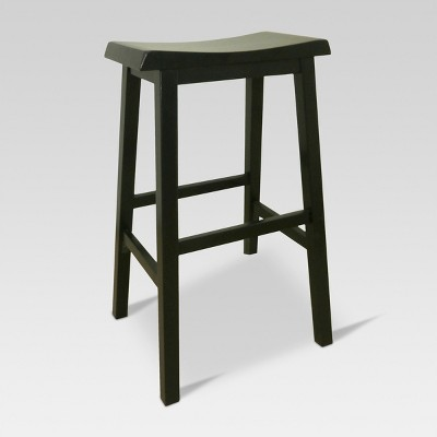Trenton Saddle Seat 29  Barstool Black 1 Pack - Threshold™