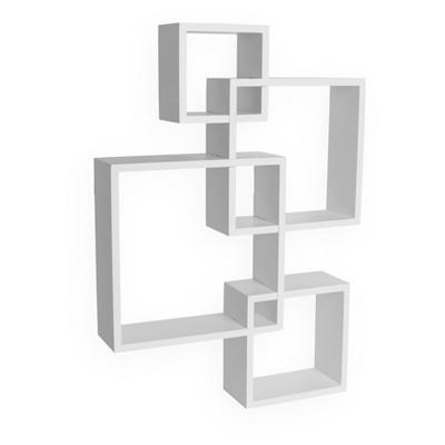 intersecting cube shelves white danya b target rh target com cube shelves with boxes cube shelf white high gloss
