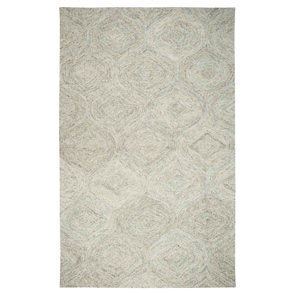 Beige Nude Trellis Tufted Area Rug 9'X12' - Rizzy Home