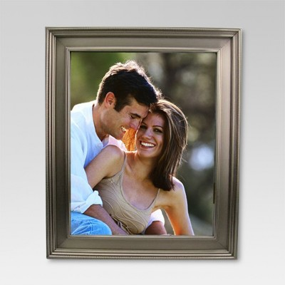 "8"" x 10"" Brushed Silver Frame Pewter - Threshold™"