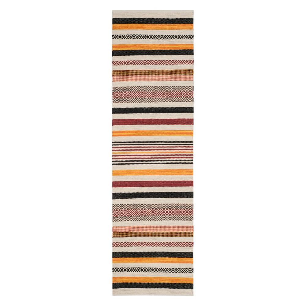 22X8 Stripe Woven Runner Red - Safavieh Price