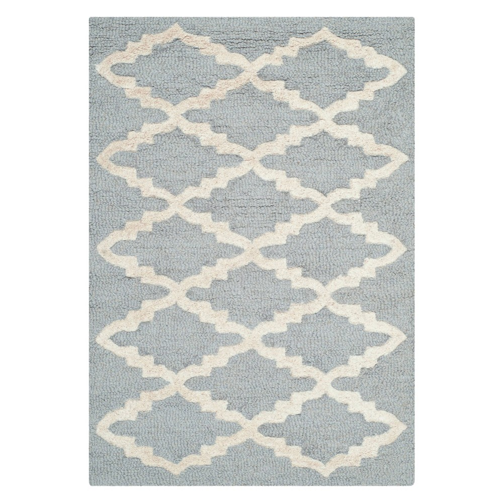 3X5 Geometric Accent Rug Silver/Ivory - Safavieh Cheap