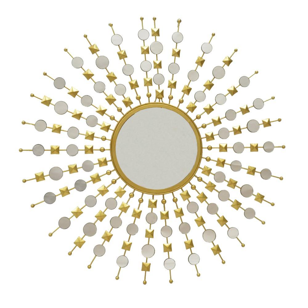 Image of Blaise Round Sunburst Mirror Frame Gold - Carolina Chair & Table