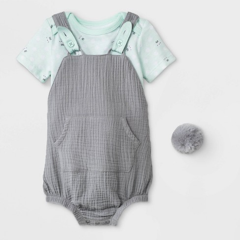 24dc92f65721 Baby Boys  Bunny Bodysuit Short Romper Set - Cat   Jack™ Green Gray ...