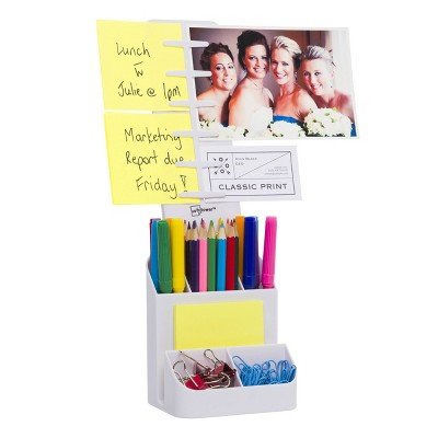Desktop Organizer and Caddy White - Note Tower