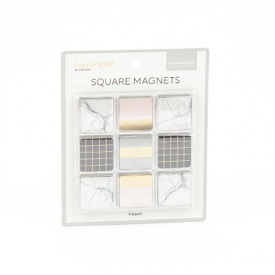 9ct Square Magnets Gold Foil & Marble - Locker Style