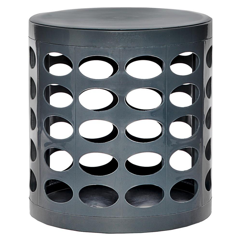 Image of GitaDini Storage Ottoman - Perforated Gray