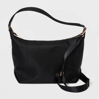 Zip Closure Shoulder Handbag - A New Day™ Black