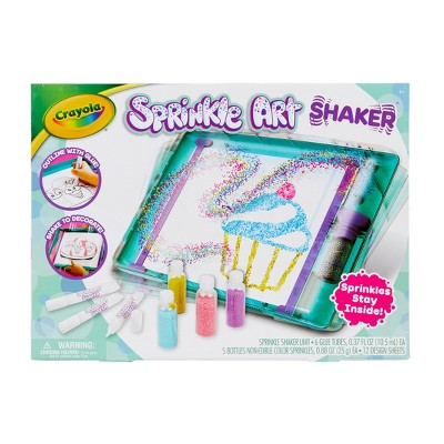 Crayola 12pc Sprinkle Art Shaker with 5 Sprinkle Bottles