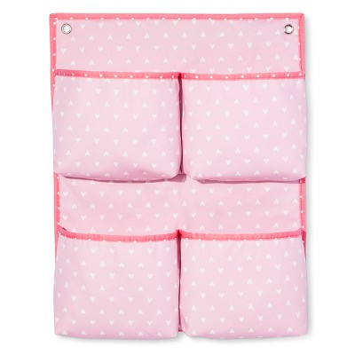 Hanging Canvas Storage with Foam Pockets - Hearts - Cloud Island™ - Pink