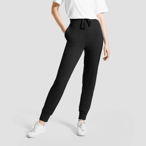 Hue Studio Women S Super Soft Joggers With Pockets Black XL