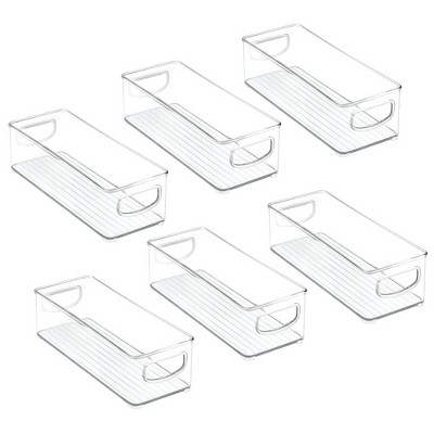 mDesign Plastic Kitchen Food Storage Bin with Handles, 6 Pack
