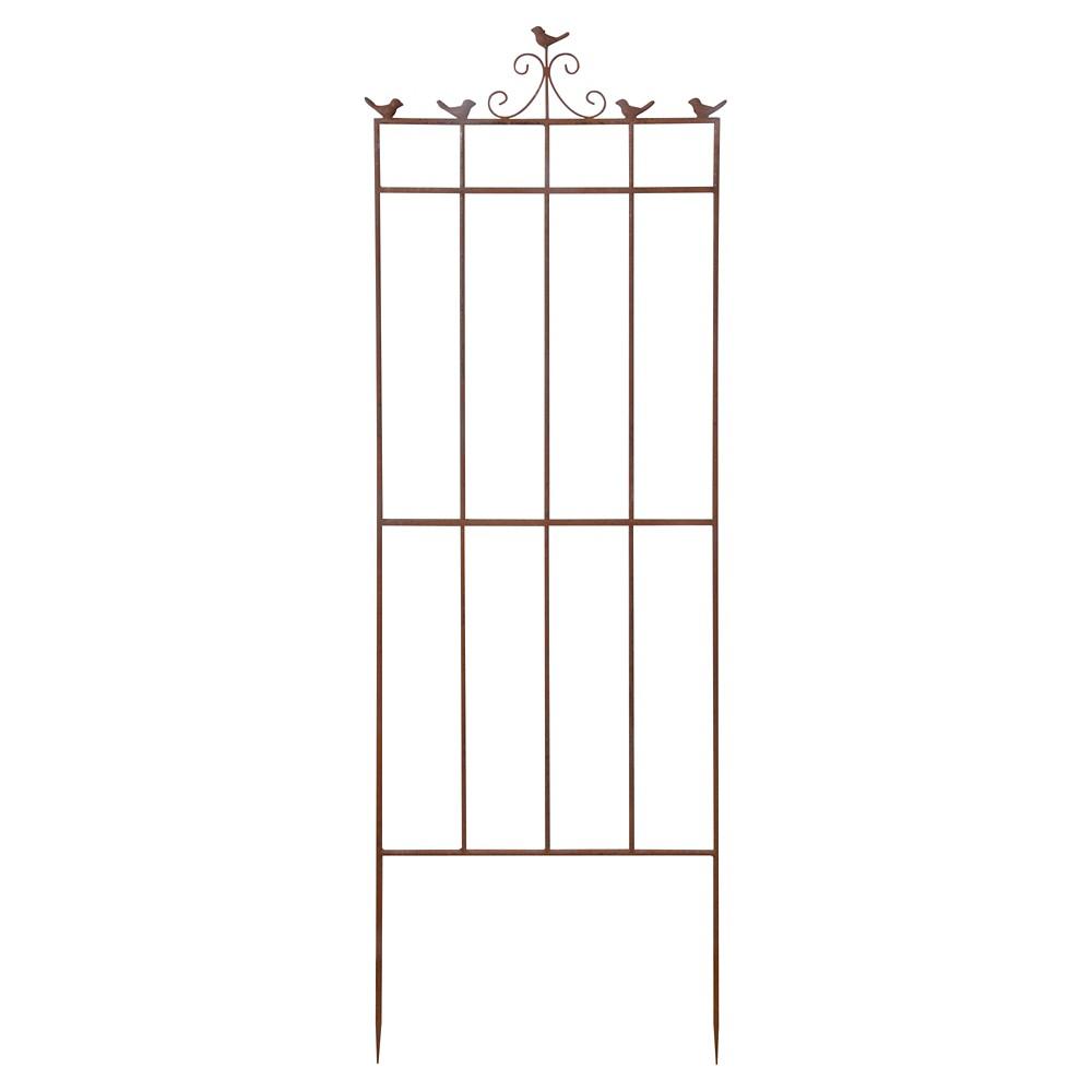 21 X 0.9 X63 Bird Trellis Metal - Brown - Esschert Design