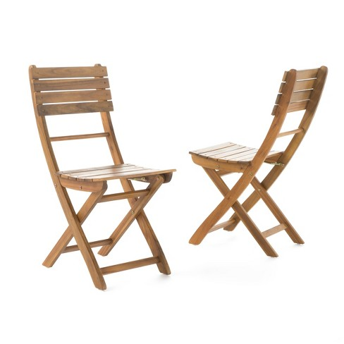 Swell Positano Set Of 2 Acacia Wood Foldable Dining Chairs Natural Finish Christopher Knight Home Customarchery Wood Chair Design Ideas Customarcherynet