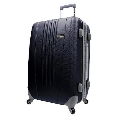 "Traveler's Choice Toronto 25"" Expandable Hardside Spinner Suitcase - Black"