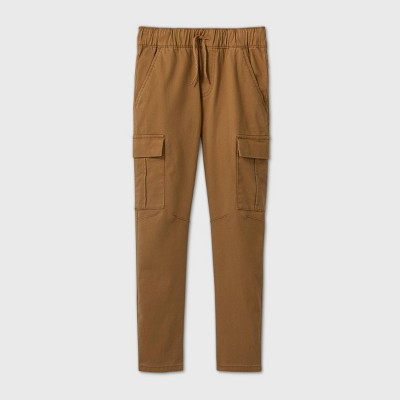 Boys' Stretch Pull-On Cargo Jogger Fit Pants - Cat & Jack™ Brown