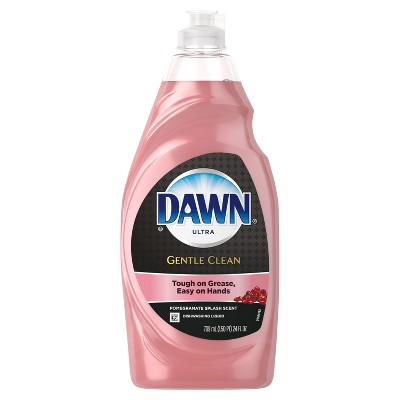 Dawn Gentle Clean Dishwashing Liquid Dish Soap Pomegranate Splash - 24oz