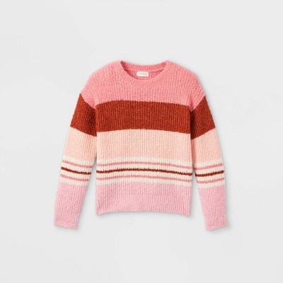 Girls' Striped Pullover Sweater - Cat & Jack™