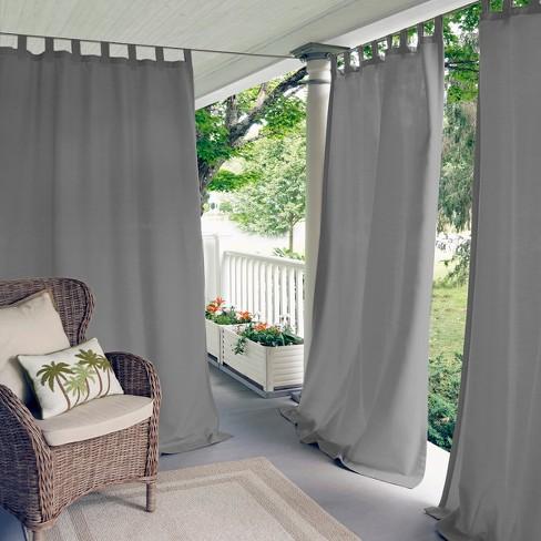 Tab Top Indoor Outdoor Window Curtain