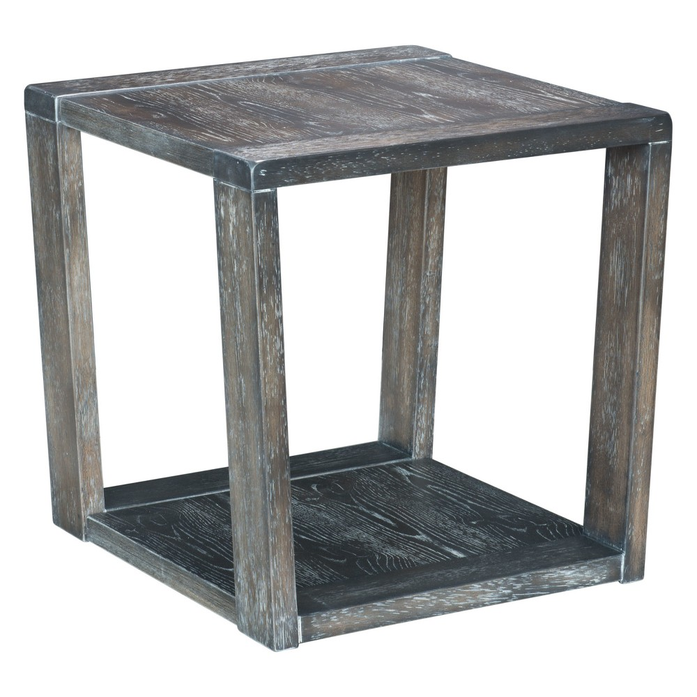 Rustic 24 Square End Table Gray - ZM Home