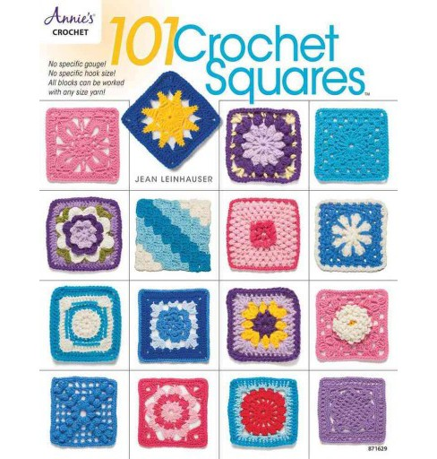 101 Crochet Squares (Paperback) (Jean Leinhauser) - image 1 of 1