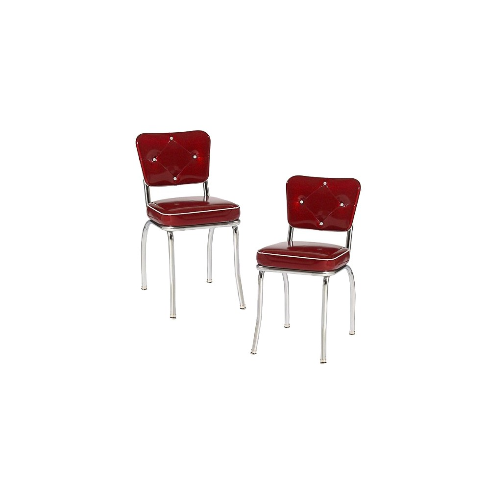 Lucy Diner Chair - Red (Set of 2)