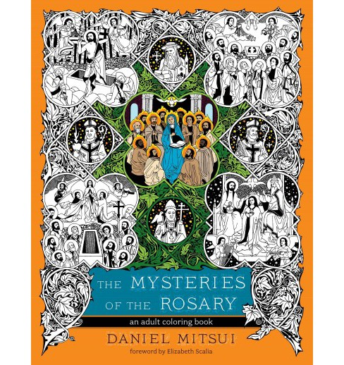 Mysteries of the Rosary : An Adult Coloring Book (Paperback) - image 1 of 1