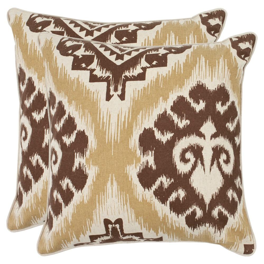 Brown Set Almond Throw Pillow (22