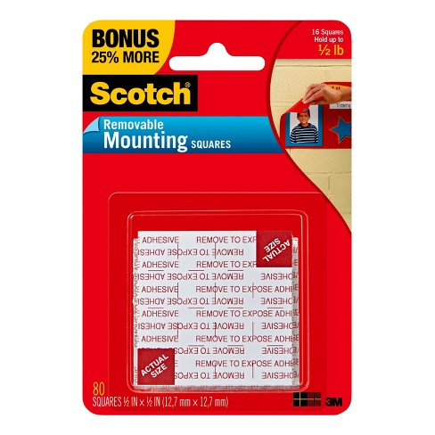 Scotch 80ct Removable Mounting Squares - image 1 of 4
