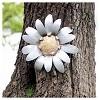 "20"" Ashville Wall Flower - Silver - Foreside Home & Garden - image 2 of 2"