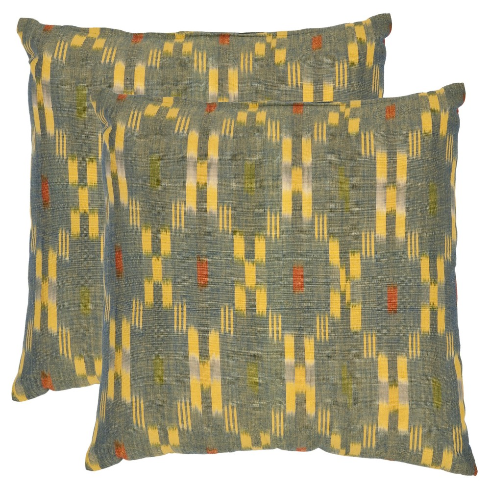 Promos 2pk 22x22 Oversize Jay Square Throw Pillows Yellow - Safavieh