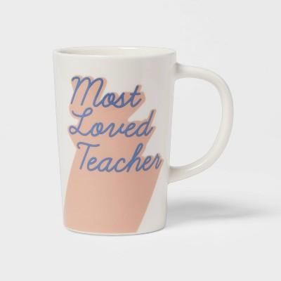 16oz Stoneware Most Loved Teacher Mug - Room Essentials™