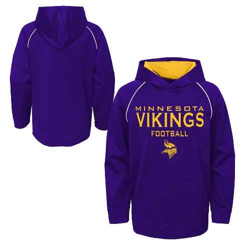 huge selection of 2c1e5 272d2 NFL Minnesota Vikings Boys' In the Game Poly Embossed Hoodie