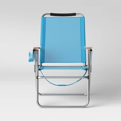 High & Wide Beach Chair - Blue - Sun Squad™