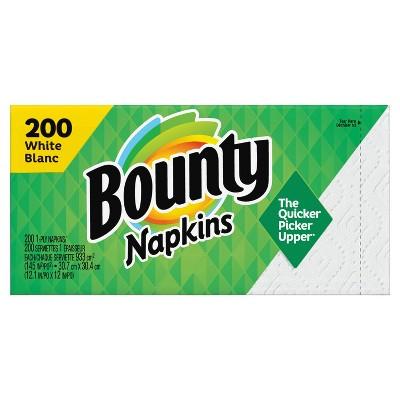 Bounty Paper Napkins - White - 200ct
